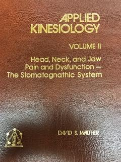 Applied Kinesiology Book